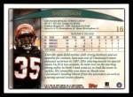 1998 Topps #16  Sam Shade  Back Thumbnail