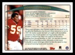 1998 Topps #27  Donnie Edwards  Back Thumbnail
