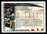 1998 Topps #118  Wayne Chrebet  Back Thumbnail