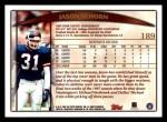 1998 Topps #189  Jason Sehorn  Back Thumbnail