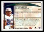 1998 Topps #66  Blaine Bishop  Back Thumbnail
