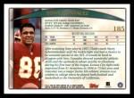 1998 Topps #185  Tony Gonzalez  Back Thumbnail