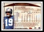 1998 Topps #257  Scott Mitchell  Back Thumbnail