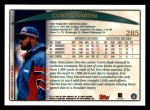 1998 Topps #285  Curtis Martin  Back Thumbnail