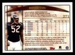 1998 Topps #271  Bryan Cox  Back Thumbnail