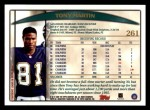 1998 Topps #261  Tony Martin  Back Thumbnail