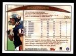 1998 Topps #286  Ricky Proehl  Back Thumbnail