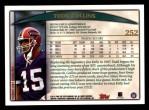 1998 Topps #252  Todd Collins  Back Thumbnail