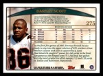 1998 Topps #275  Darnay Scott  Back Thumbnail