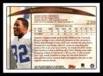 1998 Topps #239  Bryant Westbrook  Back Thumbnail