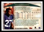 1998 Topps #227  Willie Williams  Back Thumbnail