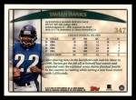 1998 Topps #347  Tavian Banks  Back Thumbnail