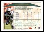 1998 Topps #325  Mike Pritchard  Back Thumbnail