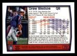 1999 Topps #70  Drew Bledsoe  Back Thumbnail