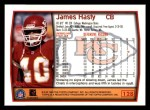 1999 Topps #128  James Hasty  Back Thumbnail