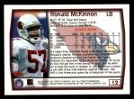 1999 Topps #12  Ronald McKinnon  Back Thumbnail