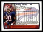 1999 Topps #18  Henry Jones  Back Thumbnail