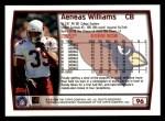 1999 Topps #96  Aeneas Williams  Back Thumbnail