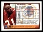 1999 Topps #148  Terry Allen  Back Thumbnail