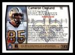 1999 Topps #182  Cam Cleeland  Back Thumbnail