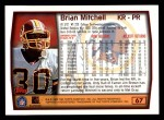 1999 Topps #67  Brian Mitchell  Back Thumbnail