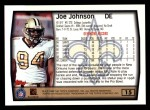1999 Topps #15  Joe Johnson  Back Thumbnail