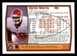 1999 Topps #217  Byron Bam Morris  Back Thumbnail