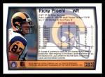 1999 Topps #252  Ricky Proehl  Back Thumbnail