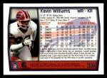 1999 Topps #236  Kevin Williams  Back Thumbnail