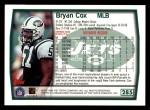 1999 Topps #285  Bryan Cox  Back Thumbnail
