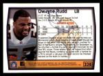 1999 Topps #238  Dwayne Rudd  Back Thumbnail