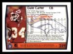 1999 Topps #259  Dale Carter  Back Thumbnail