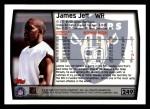 1999 Topps #249  James Jett  Back Thumbnail