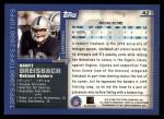 2000 Topps #42  Scott Dreisbach  Back Thumbnail