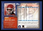 2000 Topps #233  James Hasty  Back Thumbnail