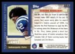 2000 Topps #327   -  Edgerrin James  Highlights Back Thumbnail
