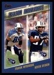 2000 Topps #330   -  Kevin Dyson / Frank Wycheck  Highlights Front Thumbnail