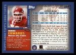 2000 Topps #256  Donnie Edwards  Back Thumbnail