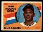 1960 Topps #140   -  Julio Navarro Rookie Star Front Thumbnail