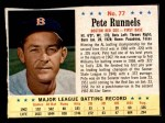 1963 Post #77  Pete Runnels  Front Thumbnail