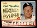 1962 Post Cereal #162  Carl Sawatski   Front Thumbnail