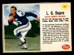 1962 Post Cereal #137  L.G. Dupre  Front Thumbnail