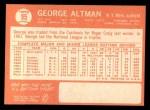 1964 Topps #95  George Altman  Back Thumbnail