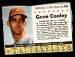 1961 Post #124 BOX Gene Conley   Front Thumbnail
