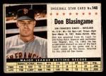 1961 Post #148 BOX Don Blasingame   Front Thumbnail