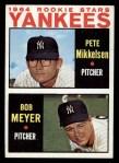 1964 Topps #488   -  Pete Mikkelson / Bob Meyer Yankees Rookies Front Thumbnail