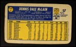 1970 Topps Super #17  Denny McLain  Back Thumbnail