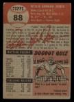 1953 Topps #88  Willie Jones  Back Thumbnail