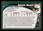 2002 Topps #91  Dominic Rhodes  Back Thumbnail