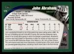 2002 Topps #173  John Abraham  Back Thumbnail